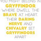 Gryffindor (black version) by Connie Yu