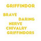 GRIFFINDOR (white version) by Connie Yu