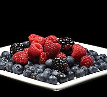 Berries on a plate by Dipali S