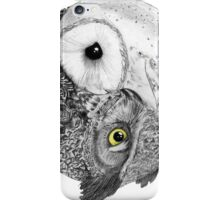 Owls Yin Yang iPhone Case/Skin