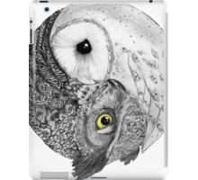 Owls Yin Yang iPad Case/Skin