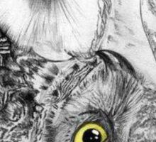 Owls Yin Yang Sticker