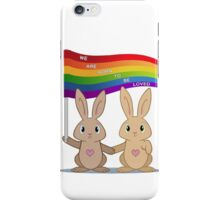 Skip & Pip (aka the Pride Bunnies) iPhone Case/Skin