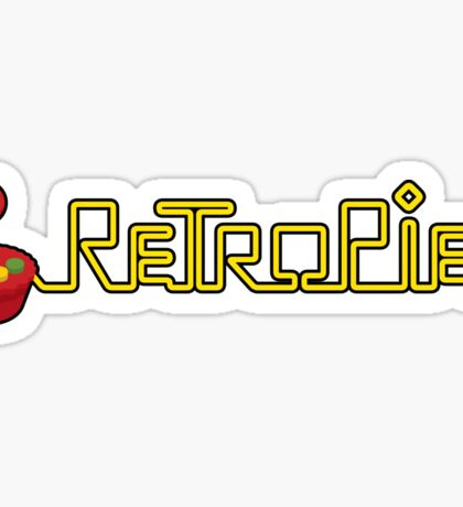 retropie raspberry horizontal logo Sticker