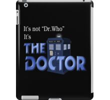 It's THE DOCTOR, not Dr. Who! Tell it like it is! iPad Case/Skin