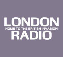British Invasion - London Radio (White) Kids Tee