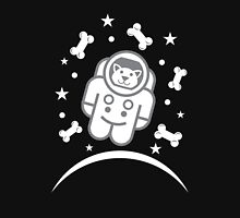 Dog in Space Astronaur Traveler Doggie Womens Fitted T-Shirt