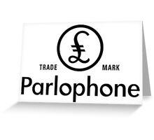 British Invasion - Parlophone Records (Black) Greeting Card