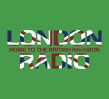 British Invasion - London Radio (Flag) One Piece - Short Sleeve
