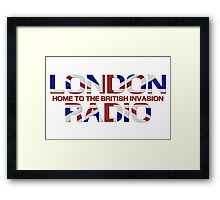 British Invasion - London Radio (Flag) Framed Print