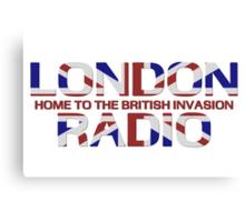 British Invasion - London Radio (Flag) Canvas Print