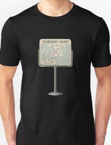 Glitch miscellaneousness subway map T-Shirt