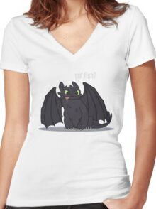 Got Fish? Women's Fitted V-Neck T-Shirt