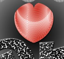 Love in Grayscale Sticker