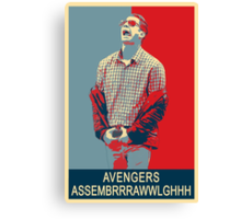 Avengers assembrrrrrawwwwwlghhh Canvas Print