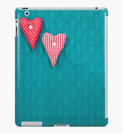 green textured knitted background iPad Case/Skin