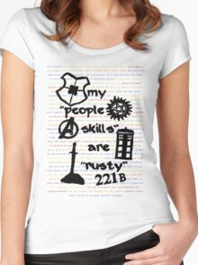 """My """"People Skills"""" are """"Rusty"""" Women's Fitted Scoop T-Shirt"""