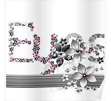Floral Masks Poster