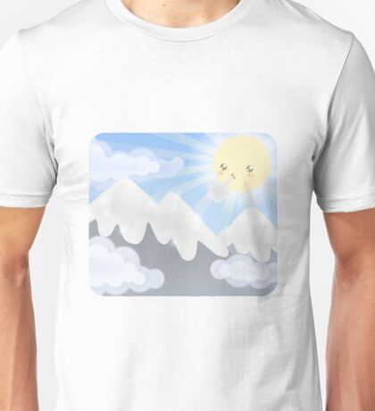 Cute Sky 30- Mountains Unisex T-Shirt