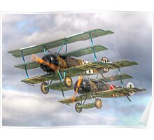 Two Little Fokkers - HDR - Dunsfold 2014 Poster
