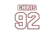 NFL Player Chris Baker ninetytwo 92 Photographic Print