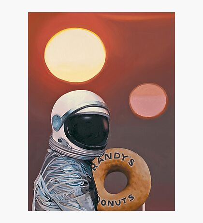 Twin Suns and Donuts Photographic Print