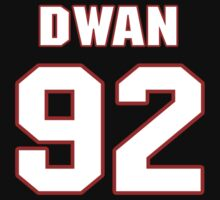 NFL Player Dwan Edwards ninetytwo 92 T-Shirt