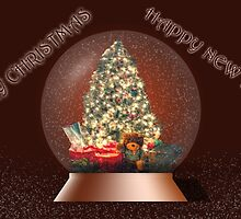 Merry Christmas-Happy New Year by Barry  Jones