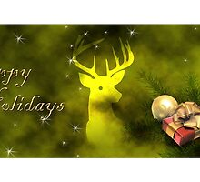 Happy Holidays Deer by jkartlife