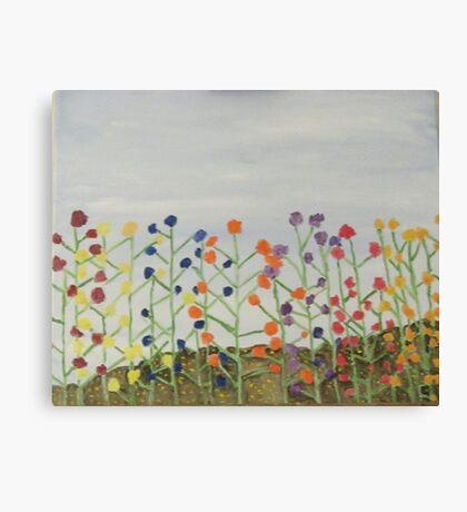 Flowers in the Sky Canvas Print