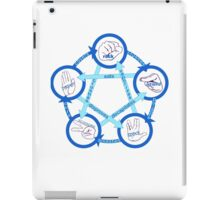 Rock Paper Scissors Lizard Spock! - In Blue!  iPad Case/Skin