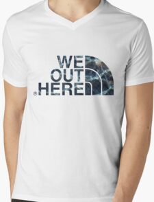 We Out Here (wet) Mens V-Neck T-Shirt
