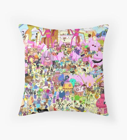 Adventure Time - Where's Finn and Jake Throw Pillow