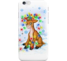 Christmas Lights Reindeer iPhone Case/Skin