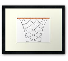 Diamond Hoops Framed Print