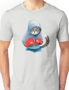 Boxing cat Unisex T-Shirt