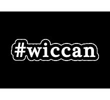 Wiccan - Hashtag - Black & White Photographic Print