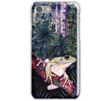 Green Tree Frog by Sheridon Rayment iPhone Case/Skin