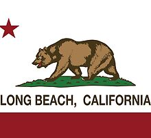 Long Beach California Republic Flag by NorCal