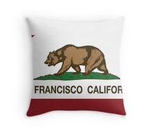 San Francisco California Republic Flag Throw Pillow
