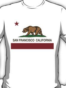 San Francisco California Republic Flag T-Shirt