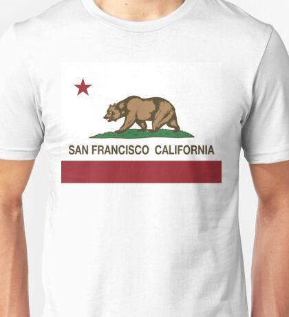 San Francisco California Republic Flag Unisex T-Shirt