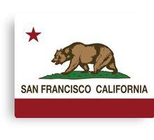 San Francisco California Republic Flag Canvas Print