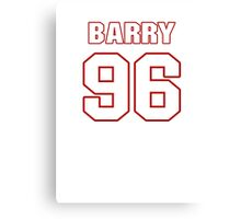 NFL Player Barry Cofield ninetysix 96 Canvas Print