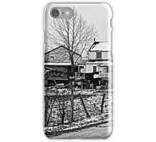 Amish House in the Snow iPhone Case/Skin
