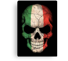 Italian Flag Skull Canvas Print