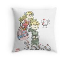 LoZ- Too Many Chickens Throw Pillow