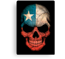 Chilean Flag Skull Canvas Print