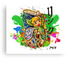 Epic Link Streetart Tshirts + More ' Legend of Zelda ' Canvas Print