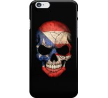 Puerto Rican Flag Skull iPhone Case/Skin